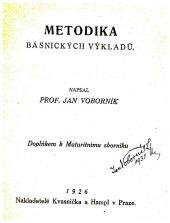Metodika básnických výkladů - bazar