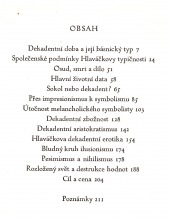 Karel Hlaváček - Typ české dekadence - bazar