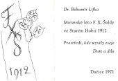 Moravské léto F. X. Šaldy ve Starém Hobzí 1912 - bazar