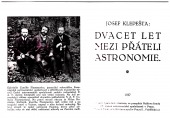 Dvacet let mezi přáteli astronomie - bazar