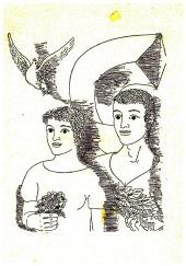 Kytička k osmdesátinám T.G.Masaryka - bazar