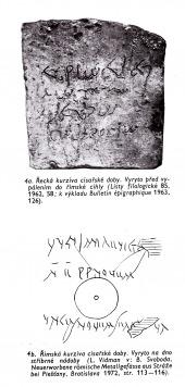 Psáno do kamene - antická epigrafie - bazar