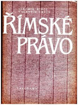Římské právo obálka knihy