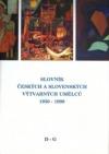 Slovník českých a slovenských výtvarných umělců 1950-1998 D-G obálka knihy