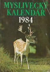 Myslivecký kalendář 1984 obálka knihy