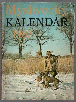 Myslivecký kalendář 1983 obálka knihy