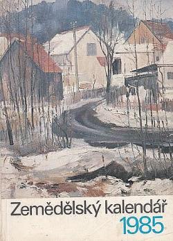 Zemědělský kalendář 1985 obálka knihy