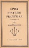 Spisy svatého Františka obálka knihy