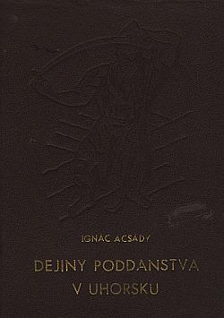 Dejiny poddanstva v Uhorsku obálka knihy