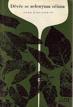 Děvče se zelenýma očima obálka knihy