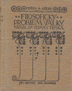 Filosofický problém války obálka knihy