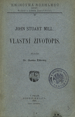 Vlastní životopis obálka knihy