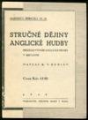Stručné dějiny anglické hudby obálka knihy