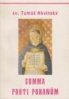 Summa proti pohanům. Kniha první