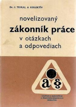 Novelizovaný zákonník práce v otázkach a odpovediach obálka knihy