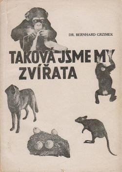 Taková jsme my zvířata obálka knihy