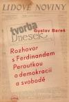 Rozhovor s Ferdinandem Peroutkou o demokracii a svobodě obálka knihy