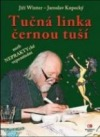 Tučná linka černou tuší obálka knihy