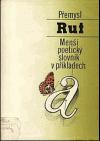 Menší poetický slovník v příkladech