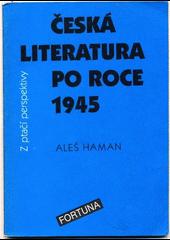 Česká literatura po roce 1945 z ptačí perspektivy obálka knihy