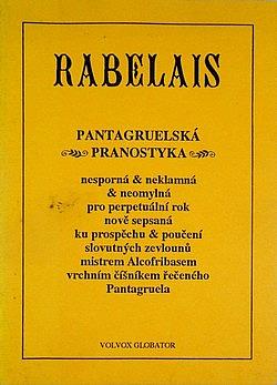 Pantagruelská Pranostyka obálka knihy