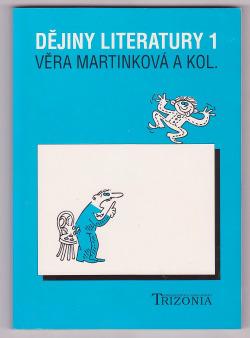Dějiny literatury 1 obálka knihy