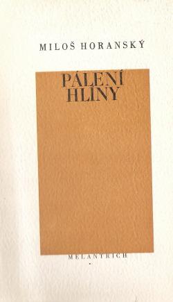Pálení hlíny obálka knihy