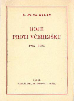 Boje proti včerejšku 1915-1925 obálka knihy