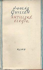 Antillské elegie obálka knihy