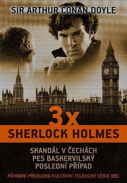 3x Sherlock Holmes obálka knihy