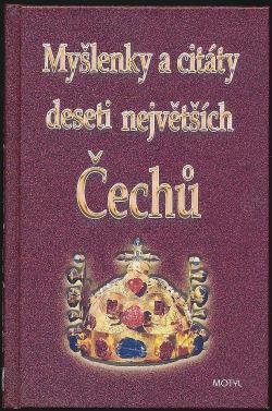 Myšlenky a citáty deseti největších Čechů obálka knihy
