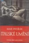 Italské umění od renesance k baroku obálka knihy