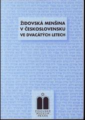 Židovská menšina v Československu ve dvacátých letech obálka knihy