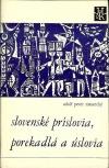 Slovenské príslovia, porekadlá a úslovia