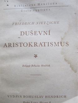 Duševní aristokratismus obálka knihy
