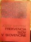 Frekvencia slov v slovenčine