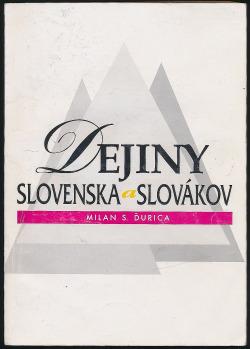 Dejiny Slovenska a Slovákov obálka knihy