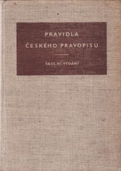 Pravidla českého pravopisu - školní vydání obálka knihy