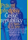 Právní předpisy České republiky 9.5.1945 - 31.12.1997