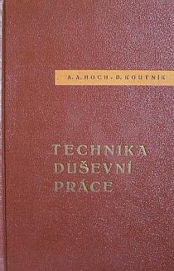 Technika duševní práce obálka knihy