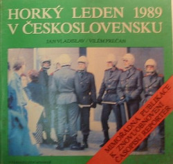 Horký leden 1989 v Československu obálka knihy