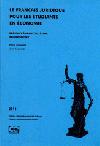 Právnická francouzština pro ekonomy (Le français juridique pour les étudiants en économie)