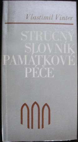 Stručný slovník památkové péče obálka knihy
