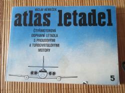 Atlas letadel 5 - Čtyřmotorová dopravní letadla s proudovými a turbovrtulovými motory obálka knihy