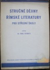 Stručné dějiny římské literatury pro střední školy