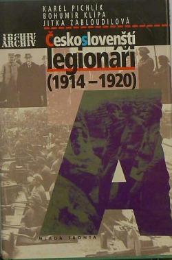 Českoslovenští legionáři (1914–1920) obálka knihy