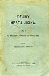 Dějiny města Jičína obálka knihy
