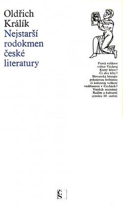Nejstarší rodokmen české literatury obálka knihy
