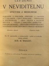 V neviditelnu - spiritism a mediumism