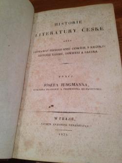 Historie literatury české obálka knihy